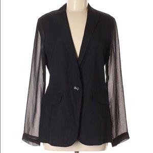 CAbi Silky Black one-button blazer, style 309!